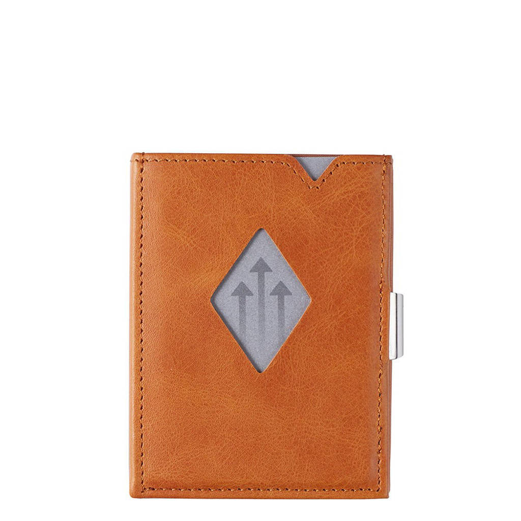 Exentri Leather Wallet RFID cognac, Bruin