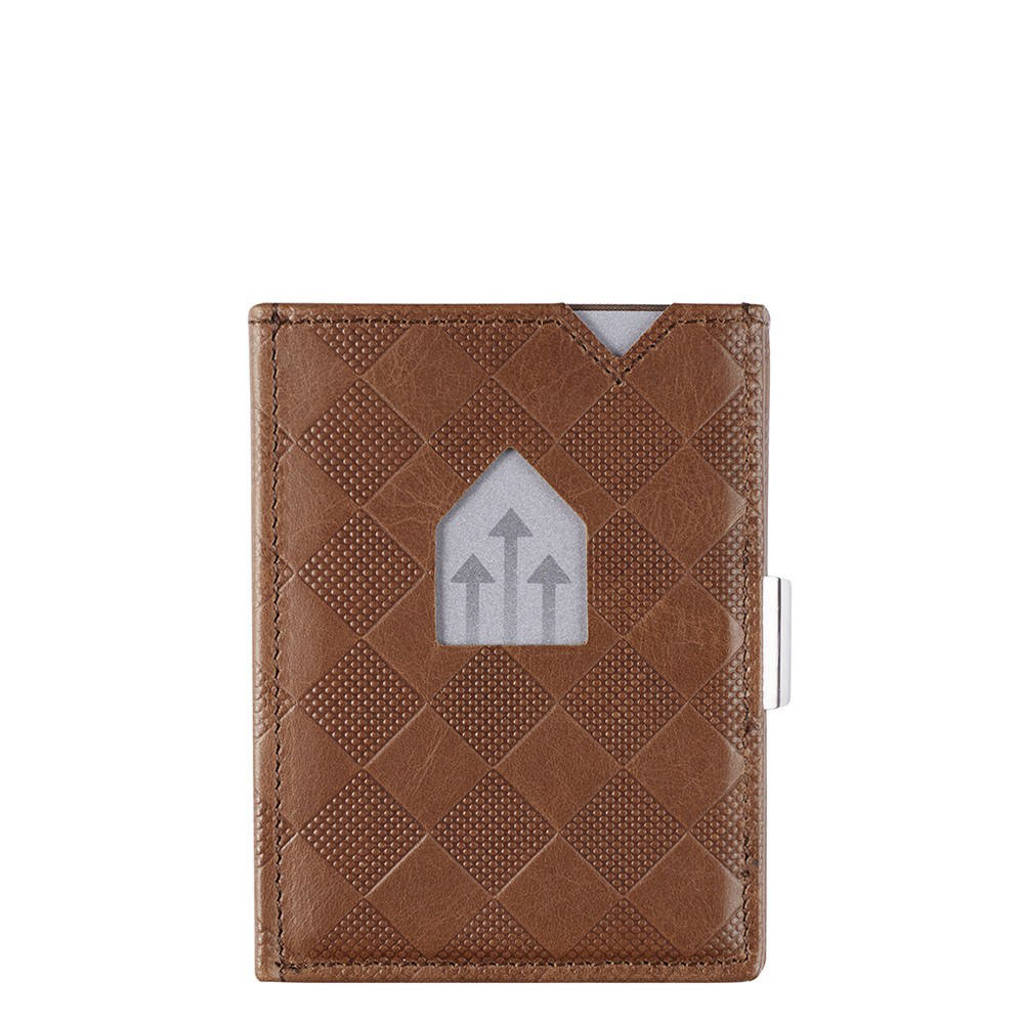 Exentri Leather Wallet RFID donkerbruin, Bruin