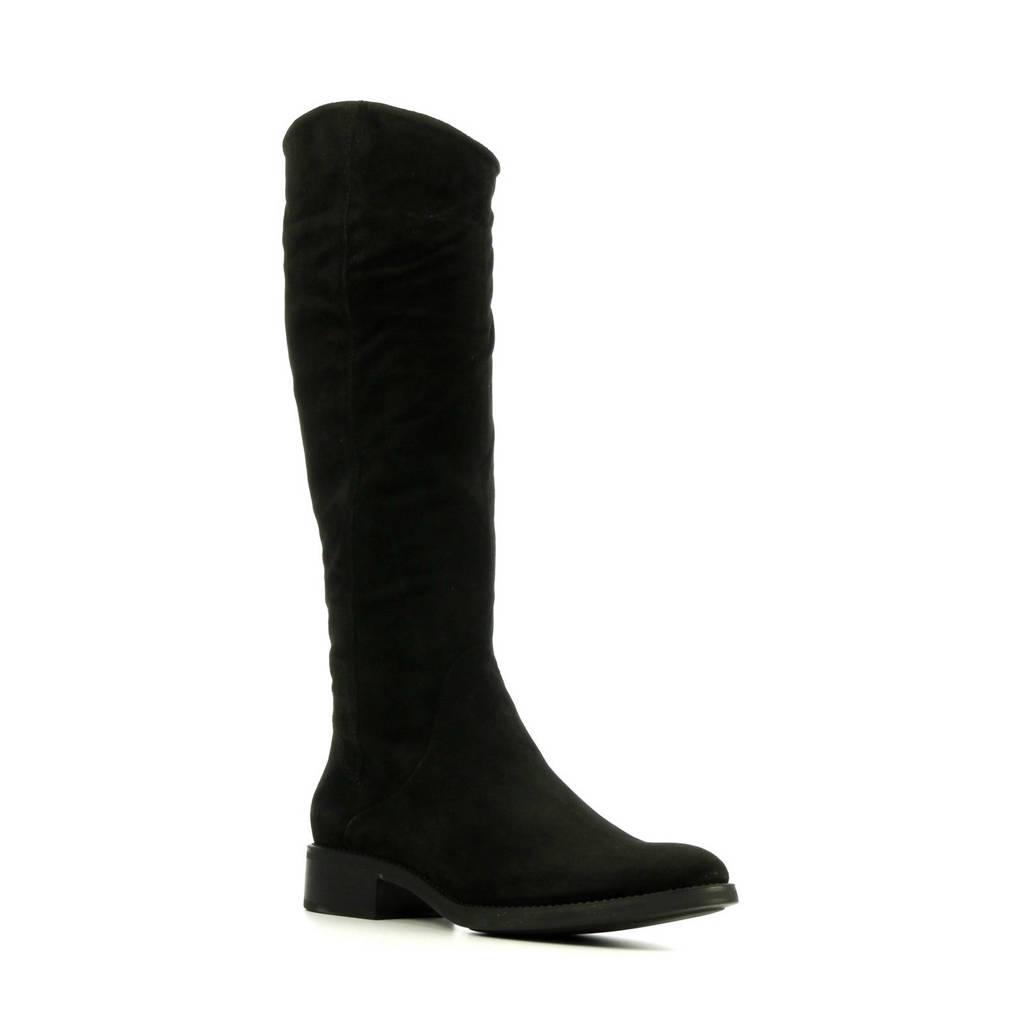 Lamica Peffa  suède laarzen zwart, Zwart