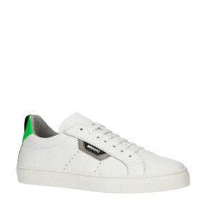 Gill  leren sneakers wit/groen