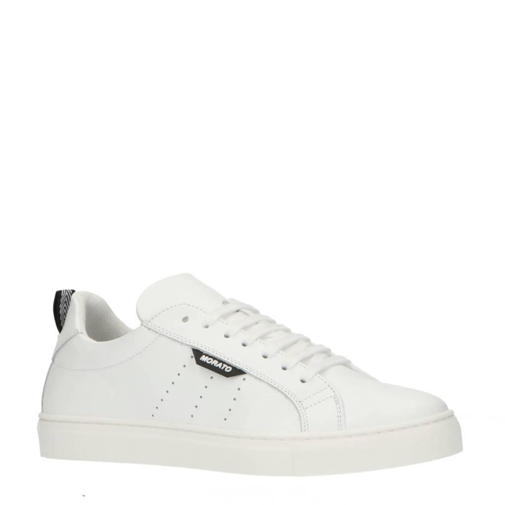 Antony Morato Spike  leren sneakers wit, Wit