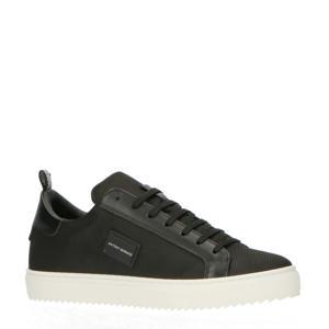 Dugger  leren sneakers zwart