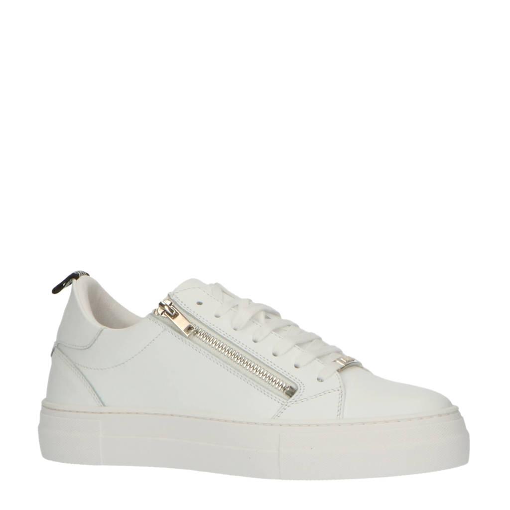 Antony Morato Zipper  leren sneakers wit, Wit
