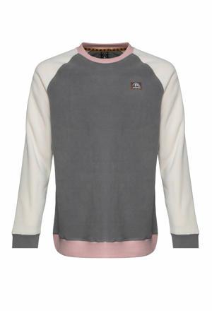 sweater Keen grijs/ecru/roze
