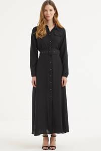 Est'seven blousejurk met ceintuur zwart, Zwart