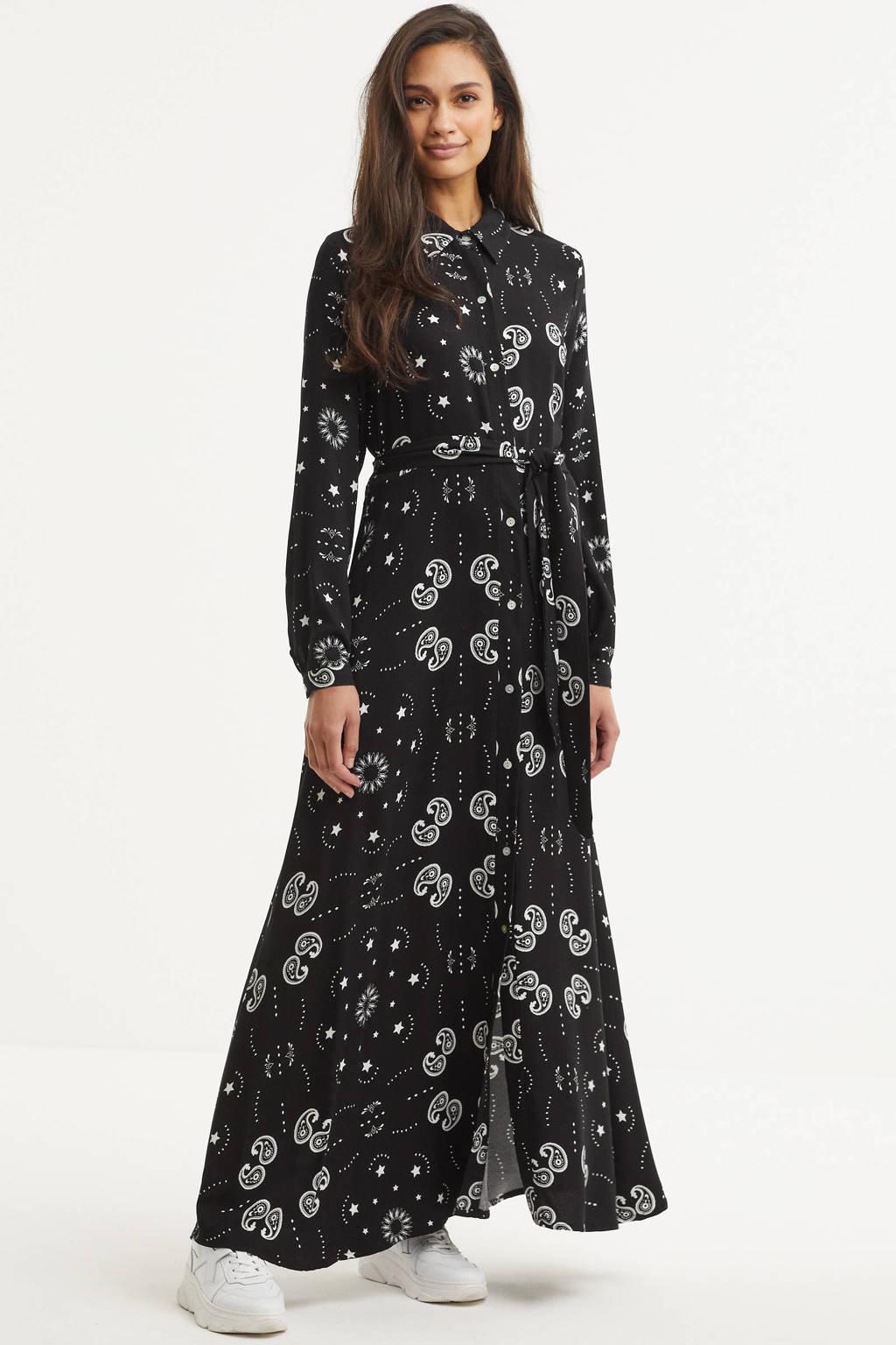 Est'seven maxi jurk zwart, Zwart