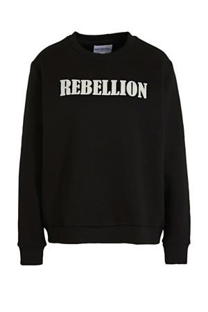 trui met logo zwart