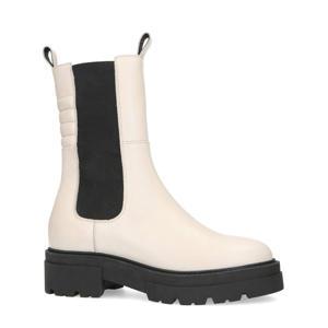 leren chelsea boots off white