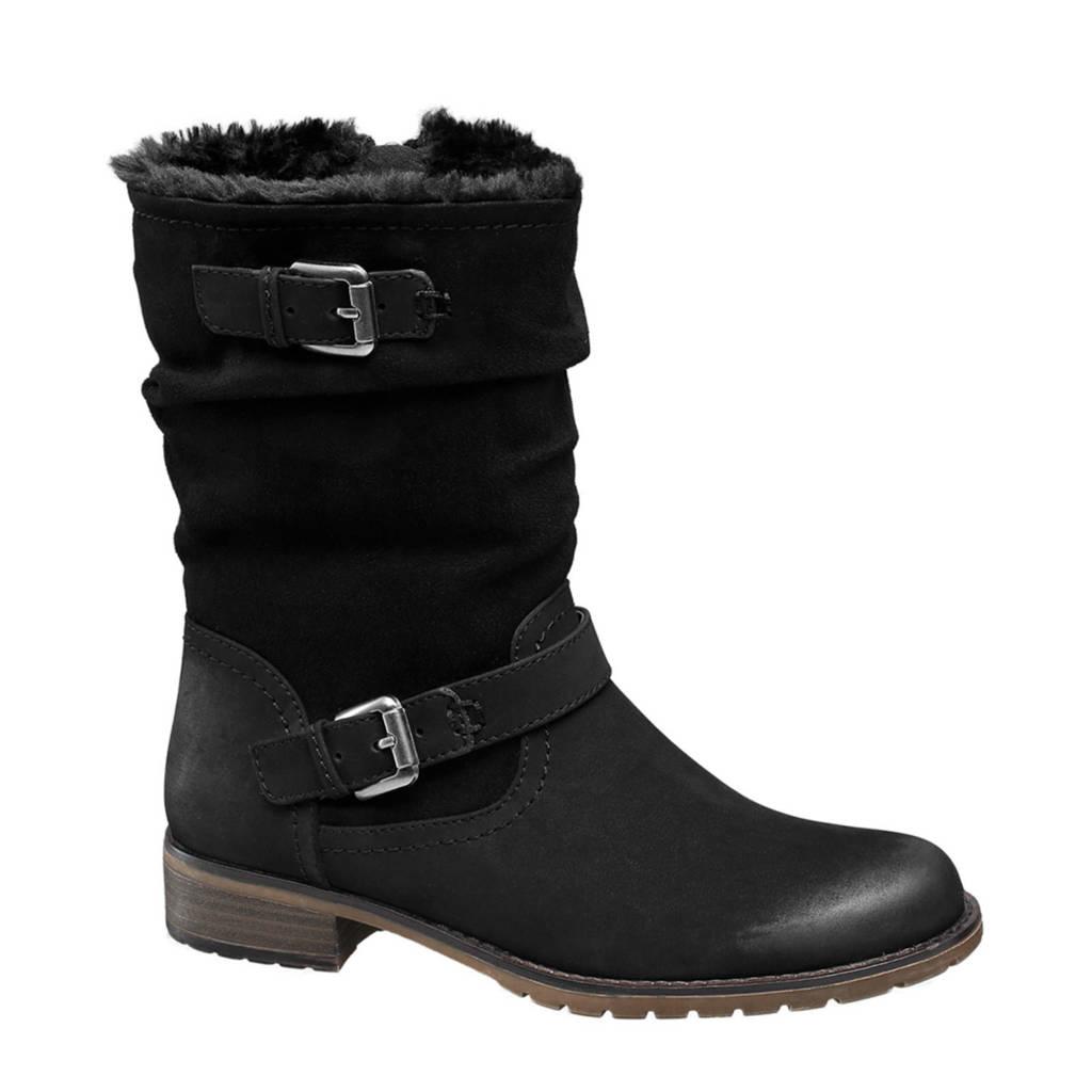 Landrover   laarzen met siergespen zwart, Zwart