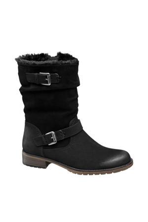 laarzen met siergespen zwart