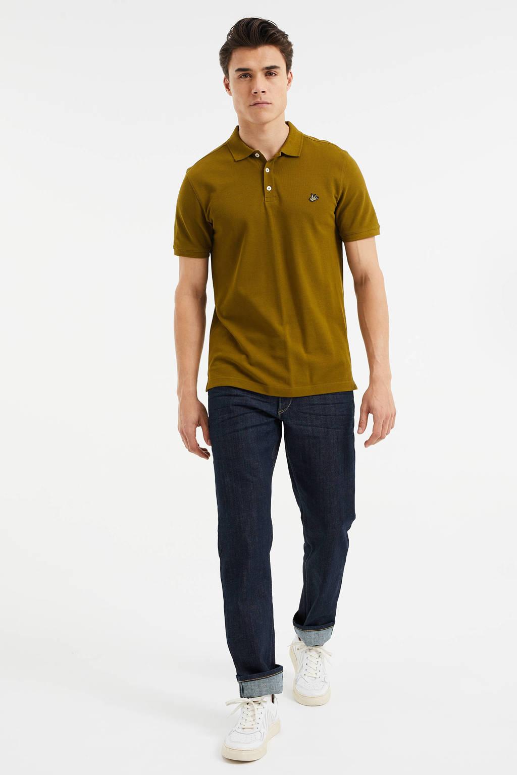 WE Fashion slim fit polo khaki, Tree Top