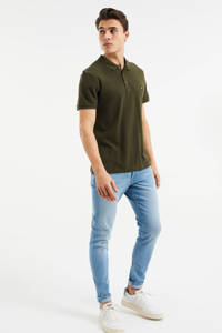 WE Fashion slim fit polo Forest Night, Forest night