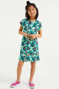 WE Fashion jurk met all over print multi color, Multi color