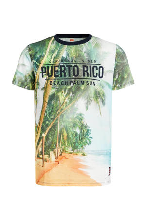 T-shirt met tekst multi color