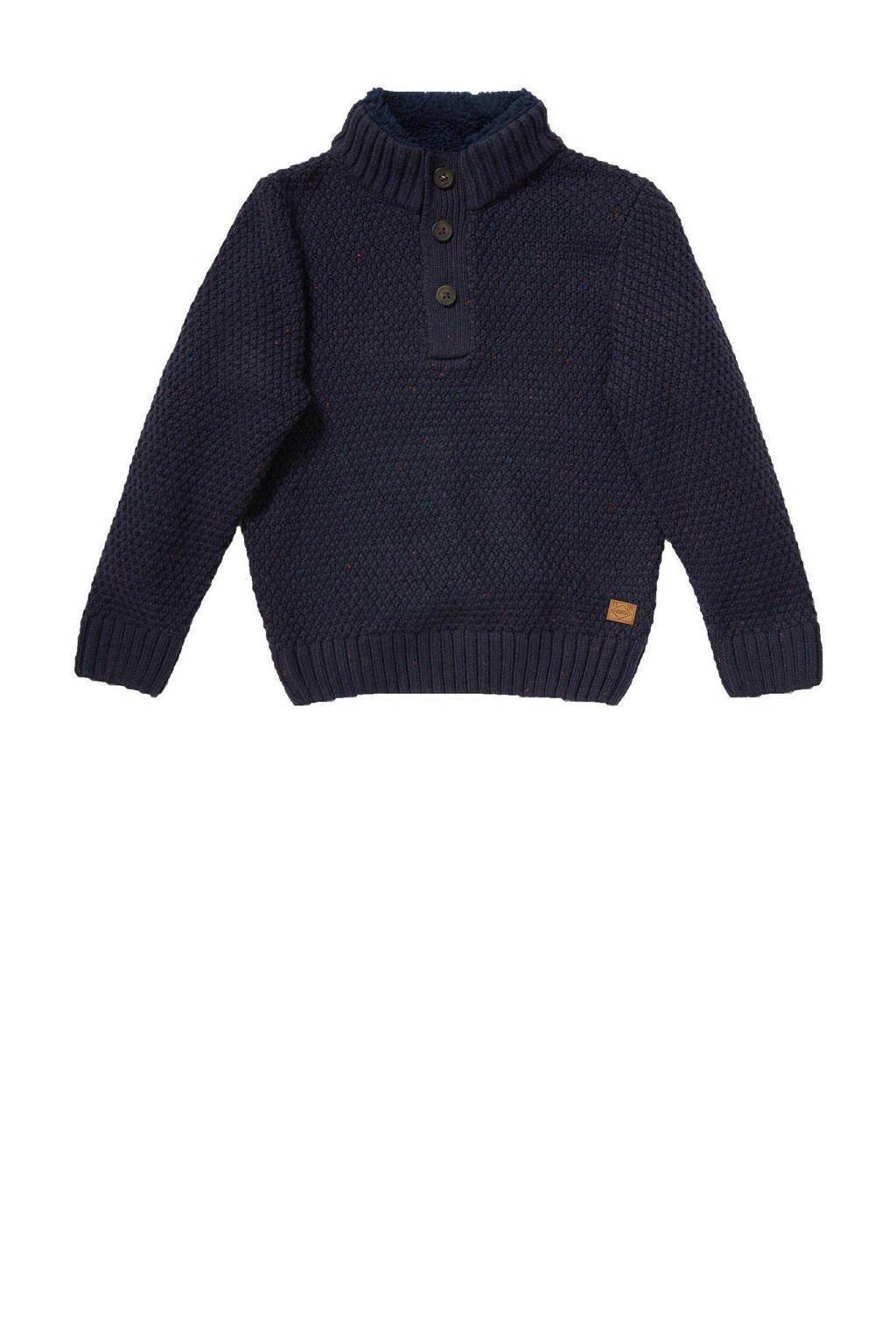 C&A gebreide trui donkerblauw, Donkerblauw