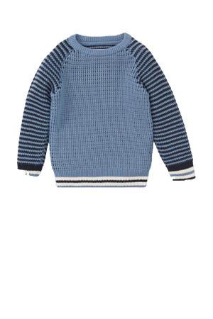 trui blauw/donkerblauw/wit