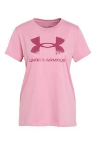 Under Armour sport T-shirt roze, Roze