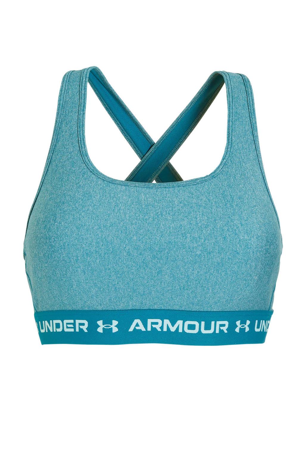 Under Armour level 1 sportbh blauw, Blauw