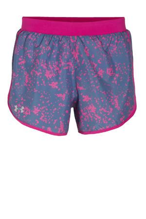 hardloopshort blauw/roze