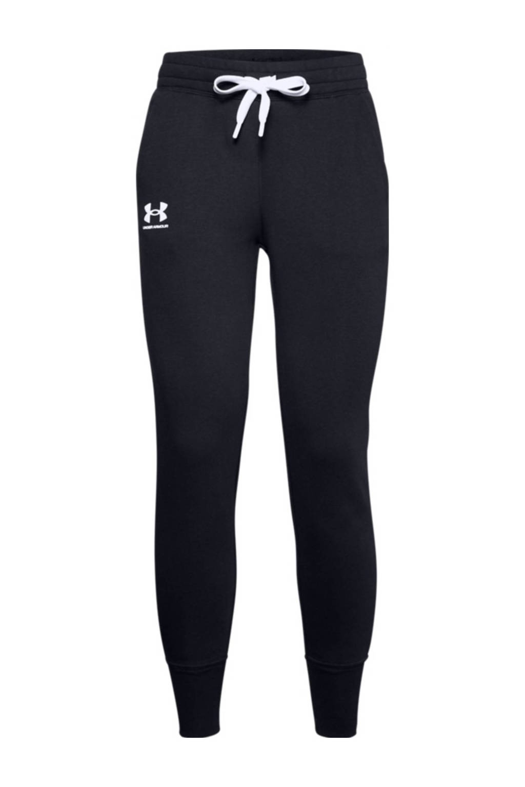 Under Armour sportbroek zwart/wit, Zwart/wit