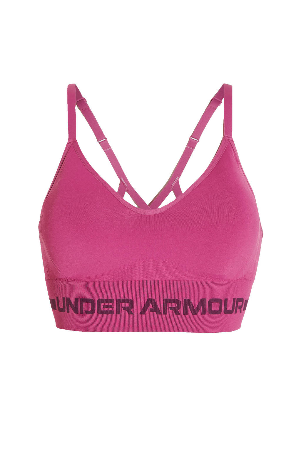 Under Armour level1 sportbh roze/paars, Roze/paars
