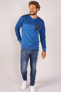 GABBIANO sweater met textuur kobaltblauw, Kobaltblauw