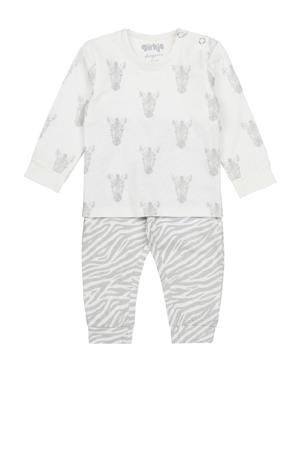 pyjama wit/grijs