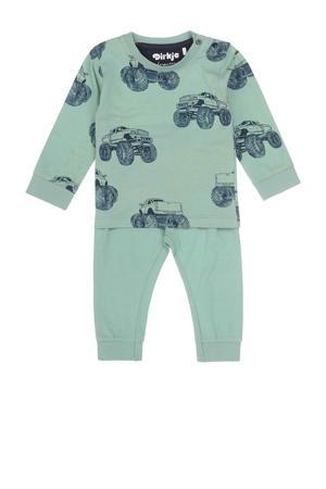 pyjama groen/blauw