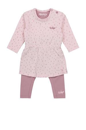 jurk + legging roze/lichtroze