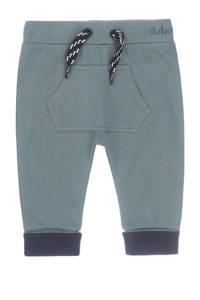 Dirkje baby broek met biologisch katoen grijsgroen/donkerblauw, Grijsgroen/donkerblauw
