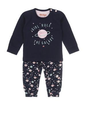 pyjama donkerblauw/roze