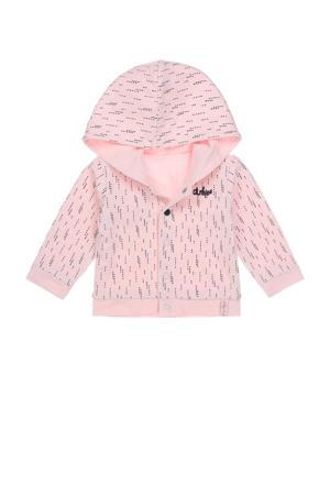 baby reversible vest met biologisch katoen lichtroze/donkerblauw
