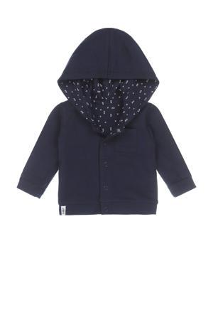 baby vest met biologisch katoen donkerblauw/wit
