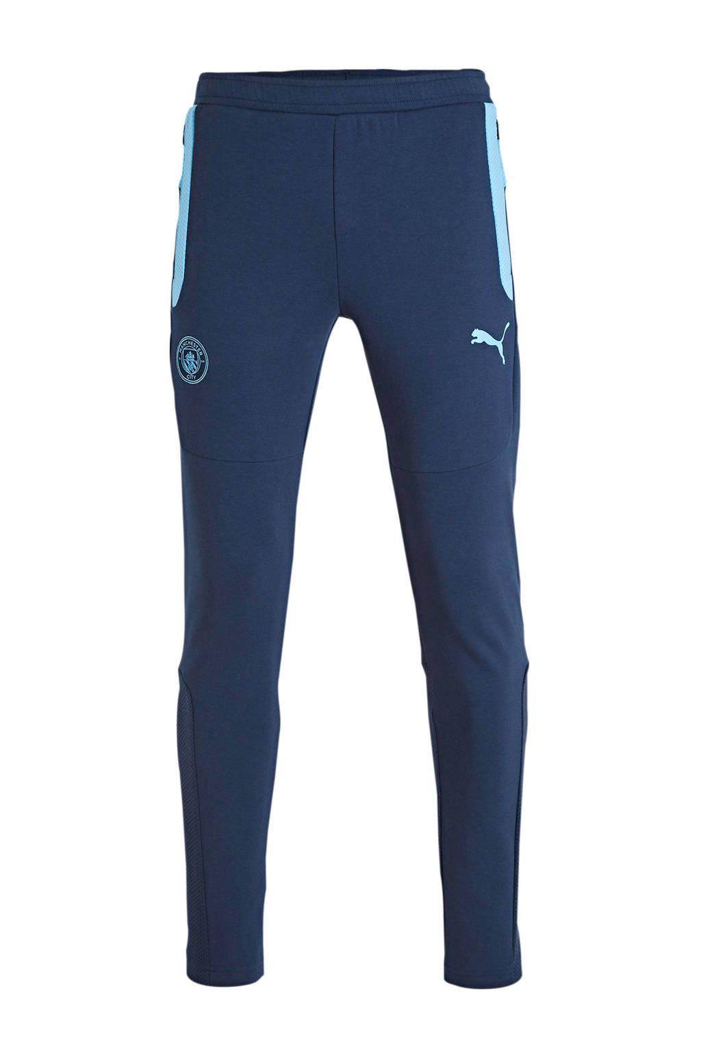 Puma Senior  voetbalbroek donkerblauw/lichtblauw, Donkerblauw/lichtblauw