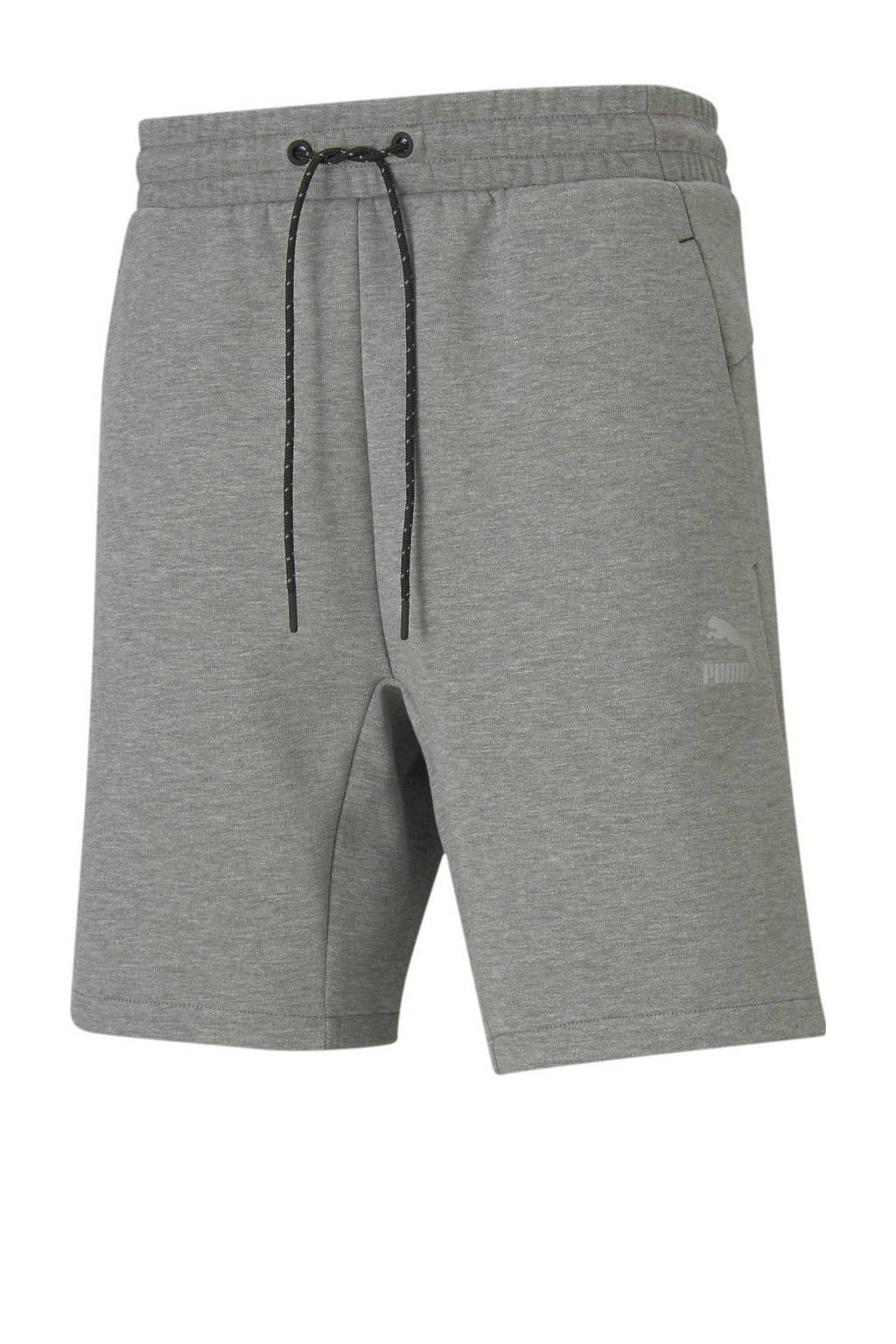 Puma sweatshort grijs melange, Grijs melange
