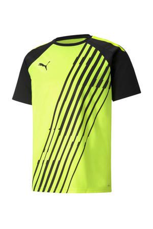 Senior  voetbalshirt geel/zwart