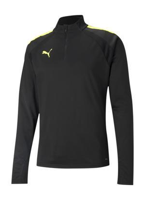 Senior  voetbalshirt zwart/geel