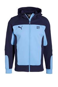 Puma Senior Manchester City voetbaljack lichtblauw/donkerblauw, Lichtblauw/donkerblauw