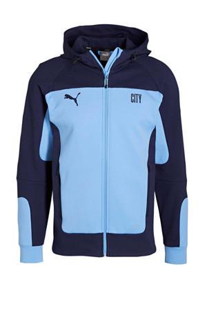 Senior Manchester City voetbaljack lichtblauw/donkerblauw