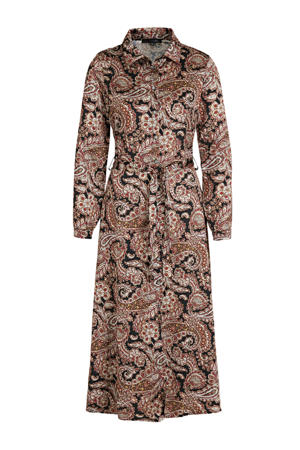 maxi jurk met paisleyprint red grenade