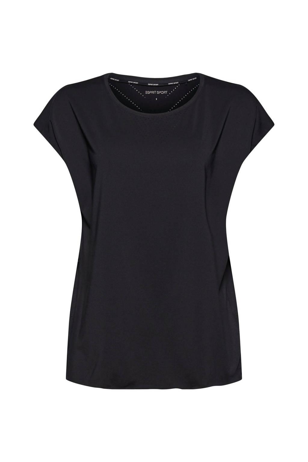 ESPRIT Women Sports sport T-shirt zwart, Zwart