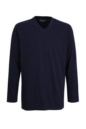 +size pyjamatop donkerblauw