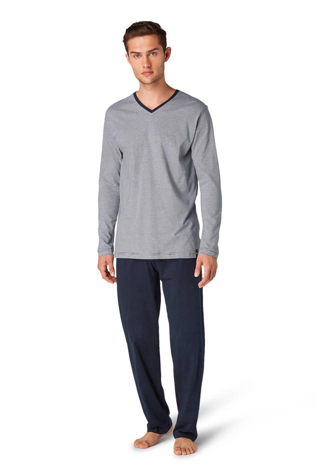 Tom Tailor pyjama met strepen donkerblauw, Donkerblauw