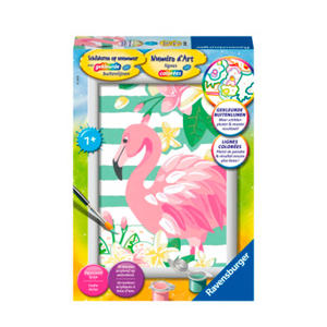 schilderen op nummer Flamingo