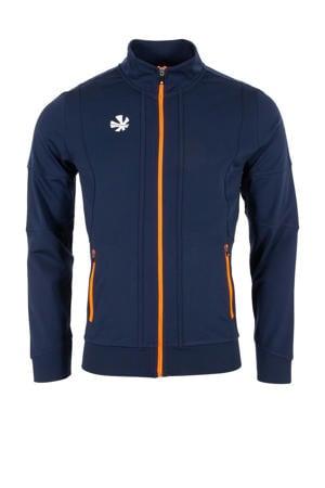 sportvest donkerblauw/oranje