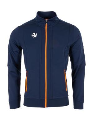 sportvest donkerblauw/oranje/wit