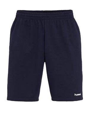 voetbalshort donkerblauw
