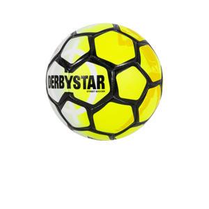 voetbal geel/wit/zwart maat 5