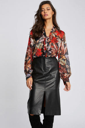 blouse met all over print multico