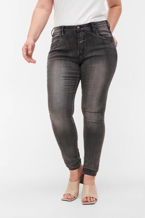 high waist skinny jeans grijs lengtemaat 32